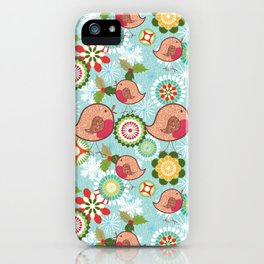 Xmas Robins iPhone Case
