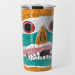 Stripy Skull  Travel Mug