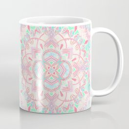 Mint and Blush Pink Painted Mandala Coffee Mug