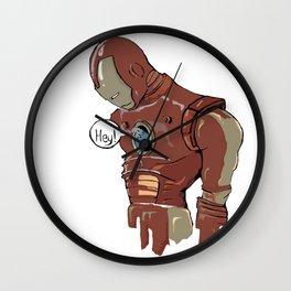 Iron-man and the Bird Wall Clock