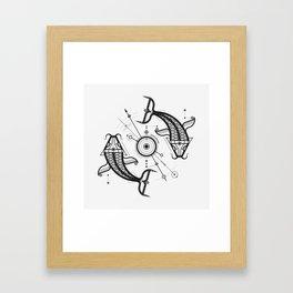 COSMIC CARPS Framed Art Print