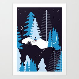 CHILDREN IN THE SNOW Art Print