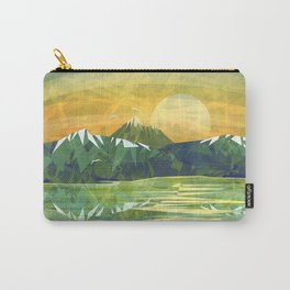 Mountains and Sunset over the lake Carry-All Pouch