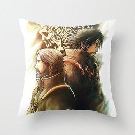 King and Prince ( Final fantasy XV ) Throw Pillow