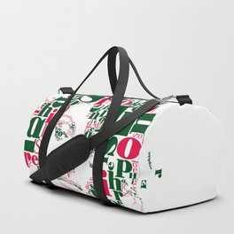 Sophia Loren Typographic Image Duffle Bag