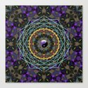 Purple Yin Yang Sacred Geometry Fractals by webgrrl
