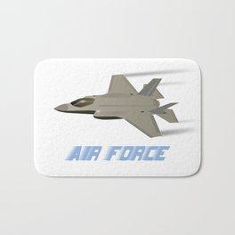Air Force F35 Jet Fighter Bath Mat