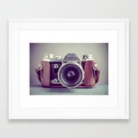 vintage camera Framed Art Prints featuring Vintage Camera by Juste Pixx Photography