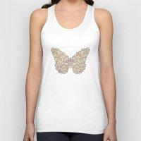 butterfly Tank Tops featuring Butterfly by Mike Koubou
