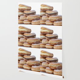 cream and chocolate donuts Wallpaper
