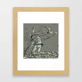 abandoned dog Framed Art Print
