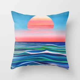 I'm Falling For Summer Throw Pillow