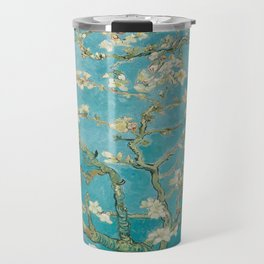 Vincent Van Gogh's Branches of an Almond Tree in Blossom Travel Mug