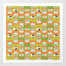 mabo & jimmy garden orange 2 Art Print