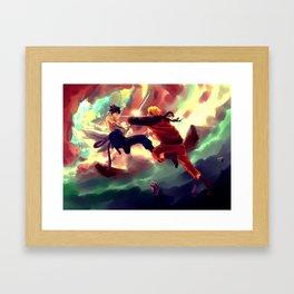 NARUTO-katana confrontation Framed Art Print