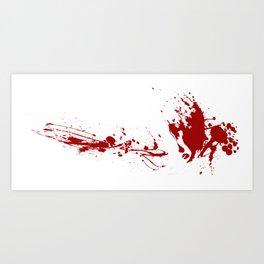 Blood Splatter Art Print