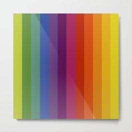 Color Wheel Lines Metal Print