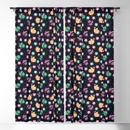 Freely Birds Flying - Fly Away Version 3 - Night Color Blackout Curtain