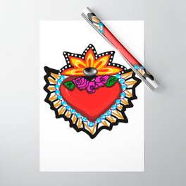 Heart Milagro Wrapping Paper
