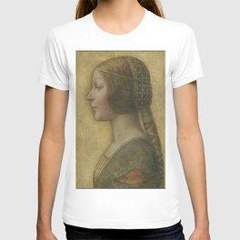 Leonardo da Vinci - Portrait of a Young Fiancée T-shirt