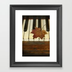 Maple Leaf and Piano Framed Art Print