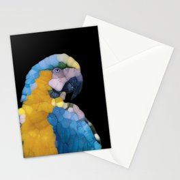 Colorful Glass Parrot Stationery Cards