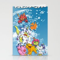 digimon Stationery Cards featuring Digimon Adventure Partners by Jelecy