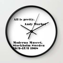 all is pretty Wall Clock