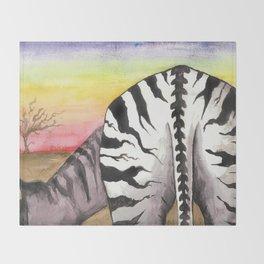 Zebra Moon Throw Blanket