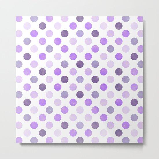 Watercolor Dots Pattern III Metal Print