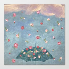 I Wished for a Rose Rain for You Canvas Print
