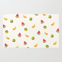 fruits Area & Throw Rugs featuring Fruits by Carolin Vogt