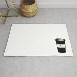 Black and white coffee Rug