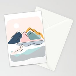 Minimalistic Landscape Stationery Cards