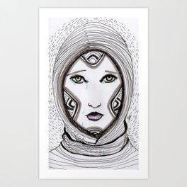 Ela. Green eyes Art Print