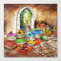 morocco Canvas Prints featuring Morocco by Helene Michau