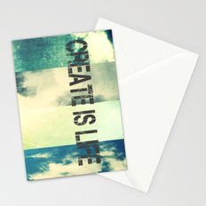 CREATE IS LIFE Stationery Cards