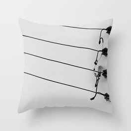 Black and White Cables Throw Pillow