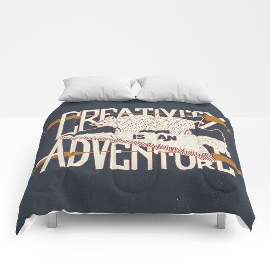 Creativity is an Adventure Comforters