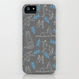 Siberian Husky Pattern iPhone Case