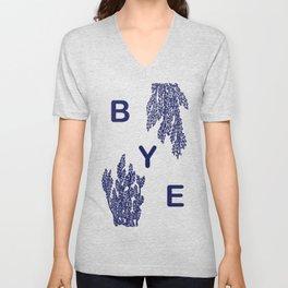 BYE - blue Unisex V-Neck