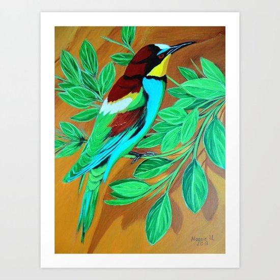 Spring time for birdie Art Print