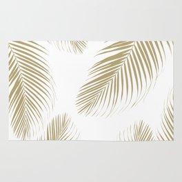 Palm Leaves - Gold Cali Vibes #3 #tropical #decor #art #society6 Rug