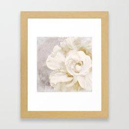 Petals Impasto Alabaster Framed Art Print