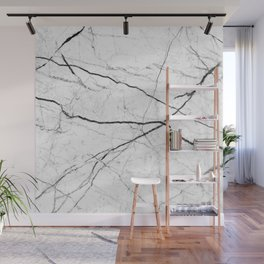 White marble abstract texture pattern Wall Mural