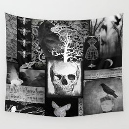 Crow And Lace Wall Tapestry