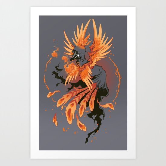 The Avian Arsonist Art Print
