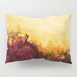 LOVELY FLOWERS ARE KISSING A YELLOW FIELD Pillow Sham