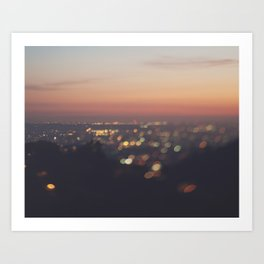 Los Angeles. Everyone's A Star No.2 Art Print