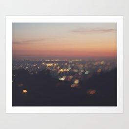 Los Angeles Photograph. Everyone's A Star No.2 Art Print